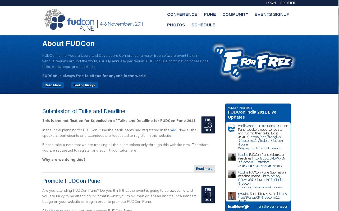 FUDCon Pune, India - 2011